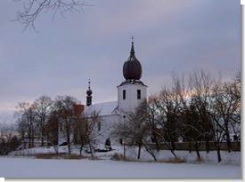 Kostel Povýšení sv. Kříže ve Starém Rožmitále, kde Jakub Jan Ryba hrával. FOTO archiv