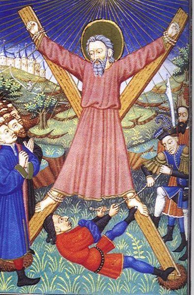 Ukřižování sv. Ondřeje. Repro archiv
