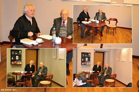 S profesorem Aloisem Hajdou 12. 12. 2012 na křtu své knihy. FOTO archiv