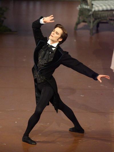 Filip Barankiewicz v titulní roli Oněgina jako první sólista Stuttgart Ballett (2008). FOTO archiv