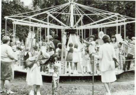 29.8.1985 Divadelní pouť na Střeleckém ostrově. FOTO VENCOVY FOTKY