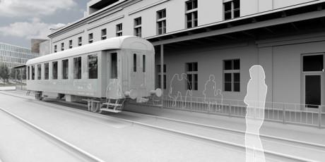 Samotné nádraží je výstavním atributem. Ukrývá příběh místa, ze kterého bylo deportováno na 50 000 židovských občanů Prahy do koncentračních táborů. Repro archiv Památník ticha Bubny