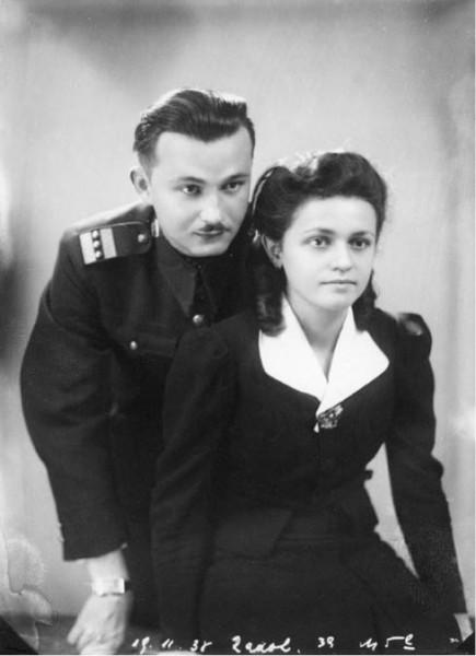 Alfréd Radok s manželkou Marií
