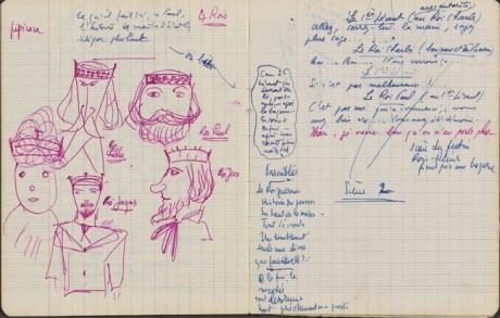 Eugene Ionesco: Král umírá, rukopis. Repro archiv