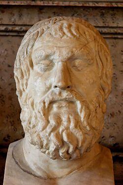 Sofoklova busta - románská kopie řeckého originálu ze 4. stol. pře. n. l. FOTO archiv