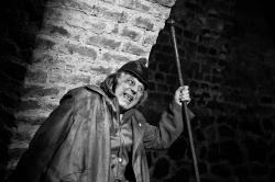 Letitý člen souboru HaDivadla, herec Cyril Drozda hrál rozkošnou figuru dvorního Šmidry. FOTO archiv U Stolu