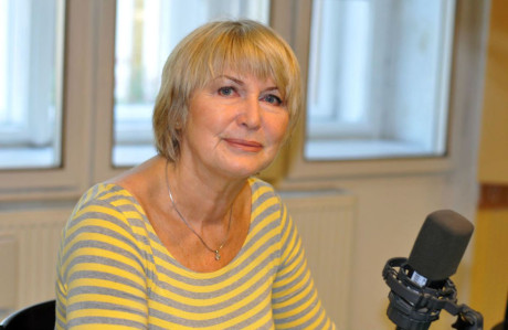 Eliška Balzerová v ČRo. FOTO EVA DVOŘÁKOVÁ