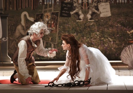 Martin Donutil (Mozart), Marie Fajtová (Pamina) FOTO HANA SMEJKALOVÁ