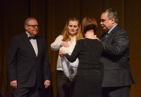 Václav Hoffmann, Zita Benešová, Vlastimil Vozka. FOTO archiv MD Most