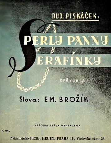 Piskáček, Rudolf - opereta Perly panny Serafínky (1964). Repro archiv