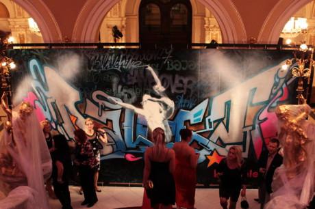 Ve foyer Mahenova divadla se uskutečnil happening, ve kterém se představily originální choreografie vytvořené tanečníky souboru Baletu NdB. FOTO archiv NDB