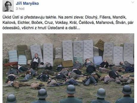 Inkriminiovaná Maryškova facebooková stránka. Repro archiv