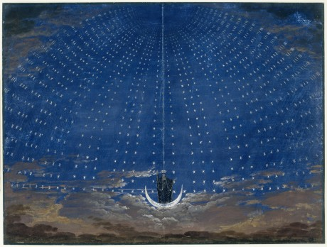 Královna noci . REPRO KARL FRIEDRICH SCHINKEL, 1815