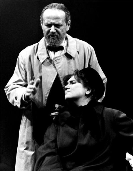 S VLastou Chramostovou v inscenaci Nobel (prem.  17. 11. 1994, ND Praha). FOTO HANA SMEJKALOVÁ