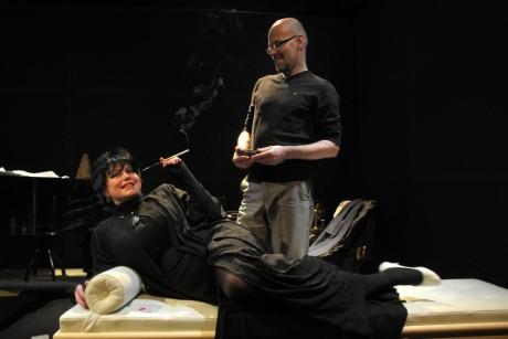 Jako Kurt s Alenou Sasínovou-Polarczyk (Alice) v Dürrenmattově Play Strindberg (prem. 17. 4. 2010, r. Peter Gábor, KSA Ostrava). FOTO archiv KSA