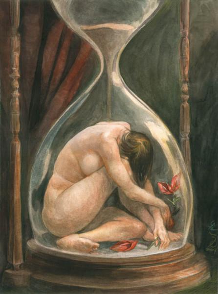 Santiago Caruso: Přesýpací hodiny (2007) Repro archiv