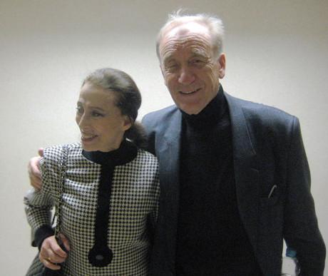 Se svá´ým manželem Rodionem Ščefrinem v roce 2009. FOTO archiv