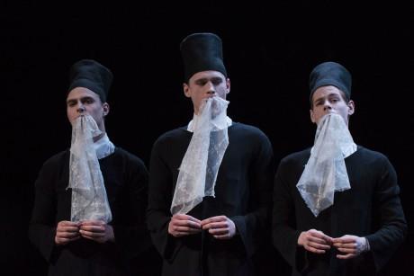 Autorská hra vycházející z textů Augusta Strindberga a Eugéna Ionesca: Kletba snů. Vilnius. Litva. FOTO JITKA JANŮ