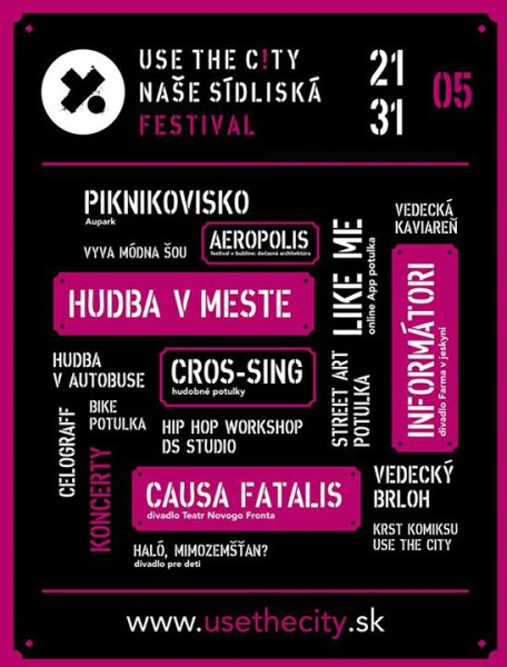 Plakát Use The City - 22. 4. 2015