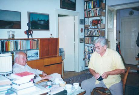 Na návštěvě u Ludvíka Vaculíka, září 1999 FOTO archiv AJL