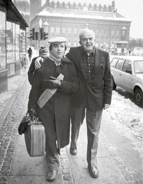S Jiřím Grušou v Kodani, leden 1987 FOTO Lars Hansen