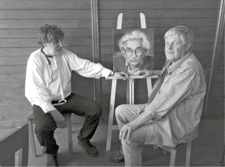 Břetislav Rychlík s Karlem Steigerwaldem na pohřbu v Brumově  FOTO ARCHIV BŘETISLAVA RYCHLÍKA