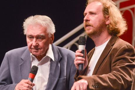 Josef Zíma s režisérem pohádky Jiřím Krausem. FOTO archiv MDM