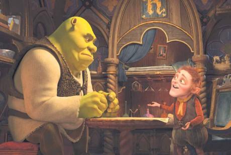 zazvonil půlnoční zvonec a pohádky byl konec….! Repro Shrek: Zvonec a konec.