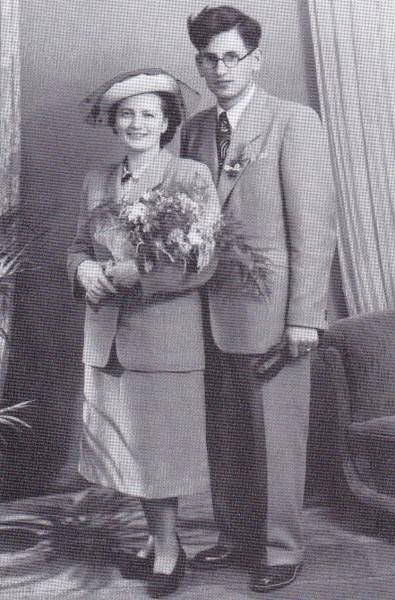 1949, svatba s Marií Komárkovou. FOTO archiv Vaculik.cz