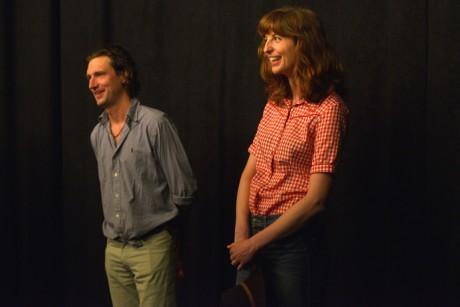 Režisér Jan Foukal a herečka Barbra Adler během uvádění jejich snímku Amerika na MFF KV. FOTO archiv MFF KV