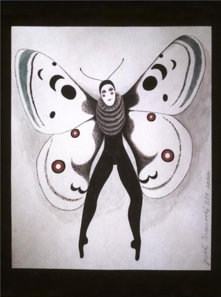 Brouk Pytlík - 08.04.1988 (Helena Anýžová-návrh kostýmu Jasoně černvenookého) Repro archiv ND