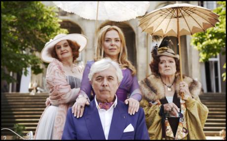 S Evou Holubovou, Dagmar Havlovou a Josefem Abrhámem ve filmu Václava Havla Odcházení. FOTO archiv