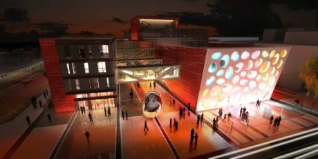 Der neue Theaterbau. FOTO archiv