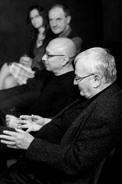 Prof. Jan Císař a herec Divadla Kámen Vladimír Benderski. FOTO KRISTÝNA SUCHÁ