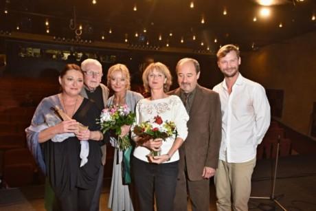 Ocenění Valerie Zawadská, Dalimil Klapka, Vilma Cibulková, Taťjana Medvecká, Viktor Preiss a Marek Holý. FOTO TOMÁŠ VODŇANSKÝ