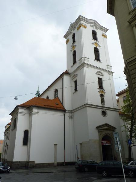 Kostel Nanebevzetí Panny Marie v Jezuitské ulici v Brně. FOTO archiv
