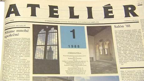 1. číslo Ateliéru (1988). Repro archiv