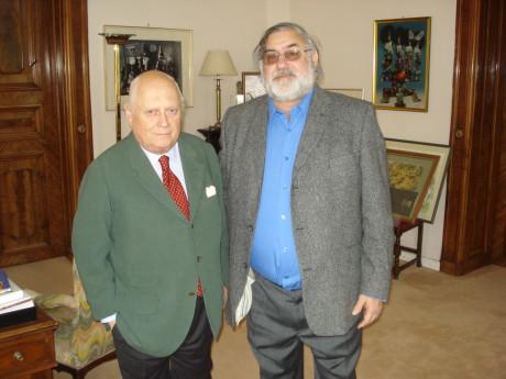 Karel Koliš (vpravo) s Maxem Turnauerem ve Vídni, potomkem mecenáše V+W. FOTO FEANTIŠEK CINGER