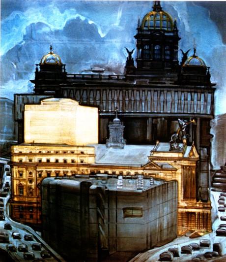 Jan Vančura: Okolo Státní opery, 2001. Repro archiv