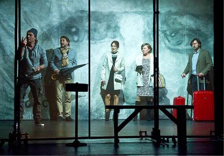 Marián Amsler upravil pro bratislavské divadlo Astorka Korzo '90 Višňový sad A. P. Čechova (premiéra 2015) FOTO ĽUBOŠ KOTLÁR