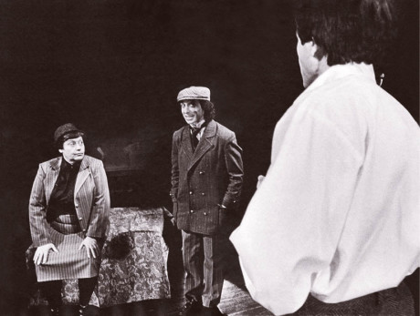 Kafkův Proces v Leningradě: zleva Lilian Malkina, Jurij Chomuťanskij a Stanislav Cimbal FOTO BOHDAN HOLOMÍČEK
