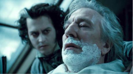 S Johnnym Deppem jako soudce Turpin ve snímku Sweeney Todd: Ďábelský holič z Fleet Street (režie Tim Burton, 2007)  FOTO ARCHIV