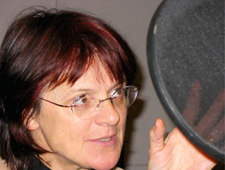 Za mikrofonem Táňa Medvecká FOTO archiv Lídy Engelové