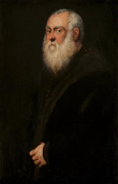Mann mit einem weißen Bart von Tintoretto, canvas, weiß, 10 x 17 Inches. Repro archiv