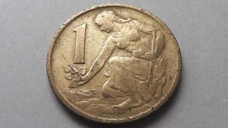 Jednokorunová mince s Bedřiškou Synkovou. FOTO archiv