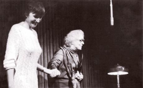 Ve Viole v roce 1988 s Vlastou Fabianovou u příležitosti oslav jejích 75. narozenin FOTO ARCHIV