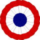 The French tricolor cockade. Repro archiv