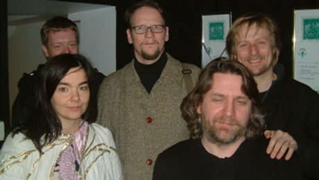 Se zpěvačkou Björk během příprav animovaného filmu Anna and the moods, ke kterému napsal scénář. FOTO archiv
