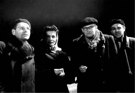 S delegací Svazu dramatických umělců v SSSR (druhý zprava), první polovina 60. let FOTO RODINNÝ ARCHIV