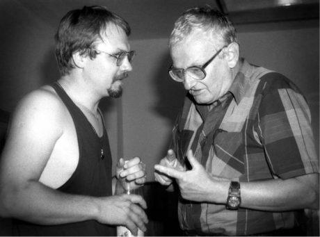 S ruským režisérem Sergejem Fedotovem, Jiráskův Hronov 1997 FOTO IVO MIČKAL